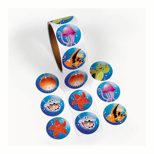 Sea Creature Sticker Roll, #341825