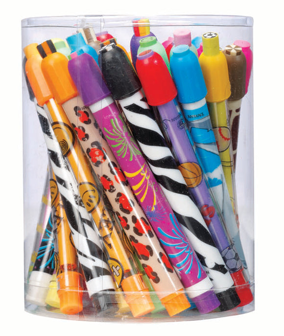 Twist Stick Eraser Assortment,  #4047