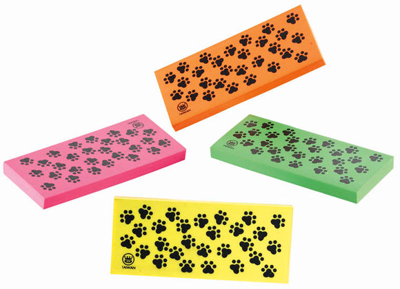 Paw Print Rectangle Eraser,  #4101