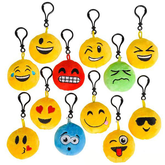 Emoticon Plush Keychain, #41902