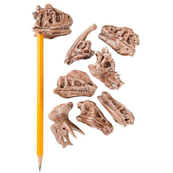 Dino Fossil Pencil Top Eraser, #42145