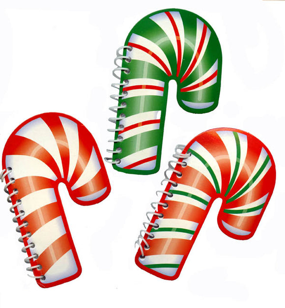 Candy Cane Spiral Memo Pad, #45706