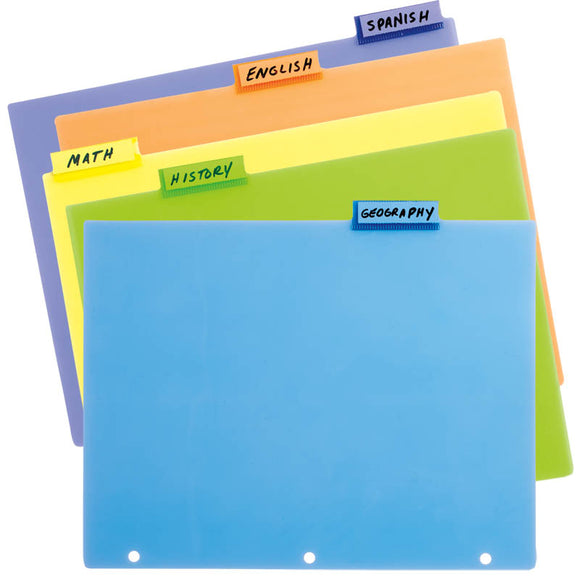 Tab Index Divider Set, 5 ct. Poly, #48500