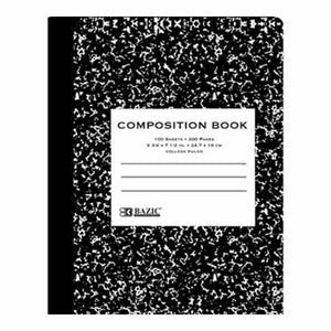 Composition Book, Black Marble, CR, #5050
