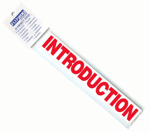 Science Project Title Strips, red, #51114