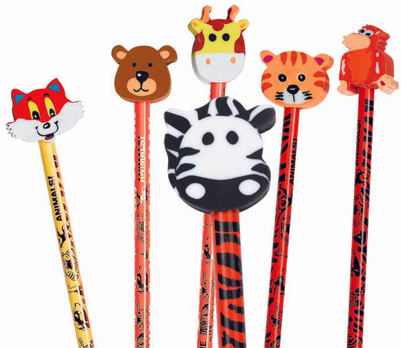 Animal Pencil  Eraser Combo Assortment,  #52974