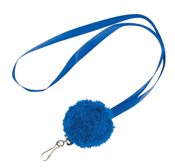 Lanyard with Pom,Blue #54495