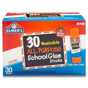 Elmer's Washable Clear Glue Stick (30/box), #5561