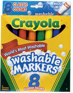 Crayola Washable Markers, broad pt, #587808
