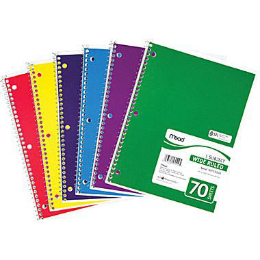 Mead 3 Subject Notebook, WR, #5746