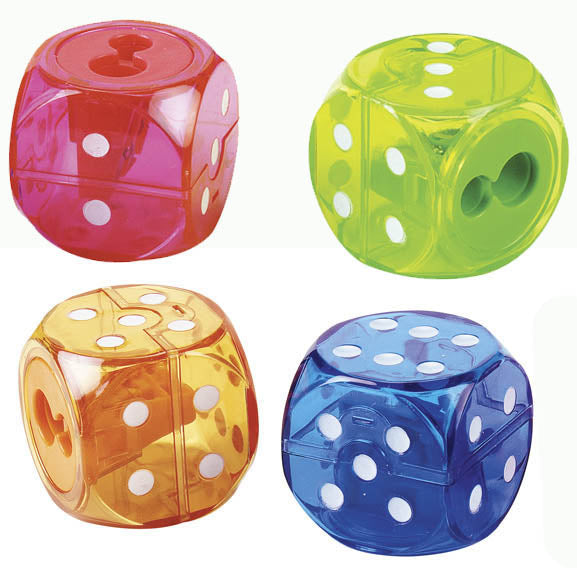2 Hole Dice Pencil Sharpener, #588