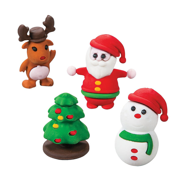 Christmas Character Puzzle Eraser,  #614152