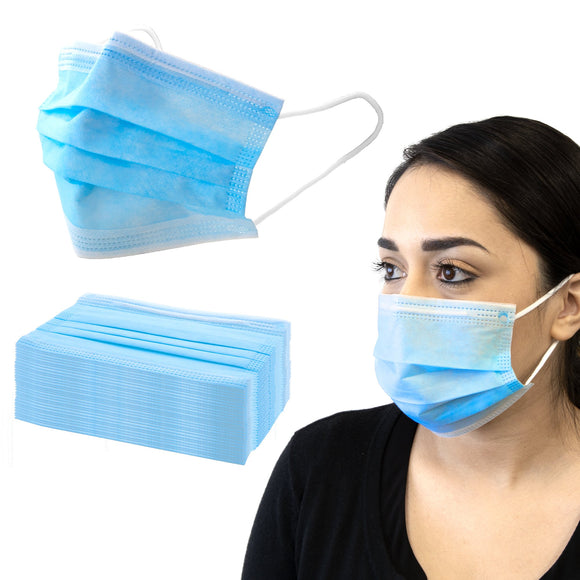 Face Masks, 3 Ply Disposable (50/box) #6720