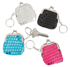 Sequin Coin Purse Keychain, #71093