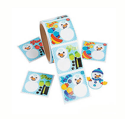 Dress a Snowman Sticker, #712886
