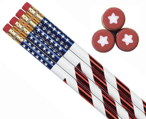 Stars & Stripes Pencil (144/unit), #7856 (D-7)