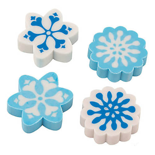 Mini Snowflake Eraser (72/unit) #909560 (H-13)