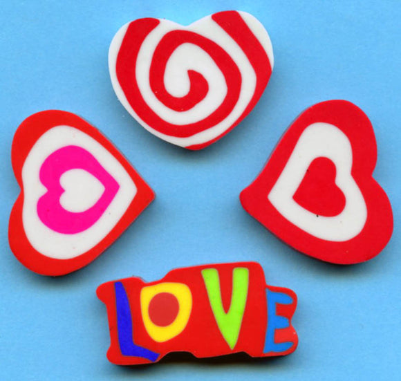Heart Design Erasers, #92798