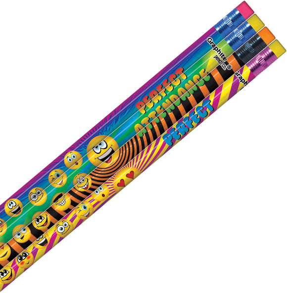 Perfect Attendance Funny Face Pencil, #978