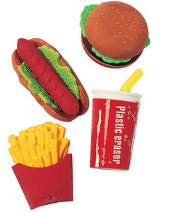 Fast Food Eraser Assortment,  #9832