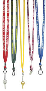 Custom Imprint 3/8 inch Polyester Lanyard, AS056