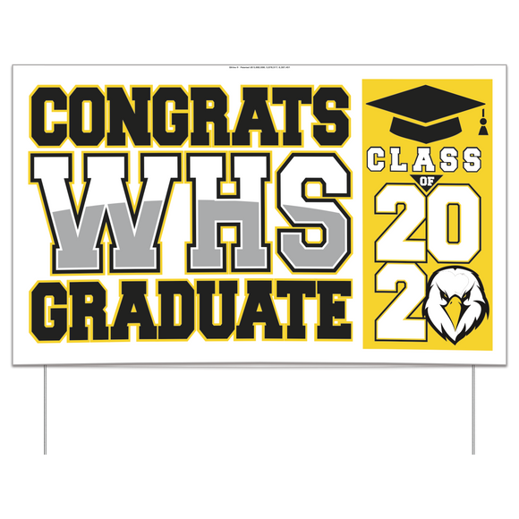 Custom Full Color Graduation Yard Sign, large (10/min), AS19243