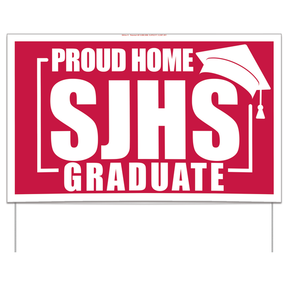 Custom Graduation Yard Sign, standard size (50/min), AS15011