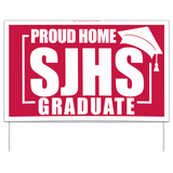 Custom Graduation Yard Sign, large (50/min), AS19211