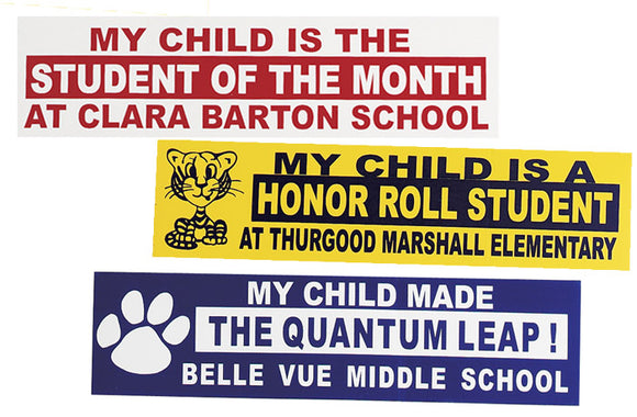 Custom Bumper Sticker w/Removable Adhesive, Large, AS402