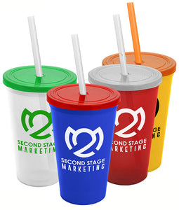 Custom Print Tumbler with Straw & Lid, ASC22