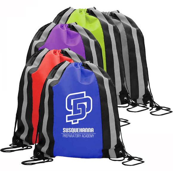Custom Print Backpack, Reflective, ASDS17