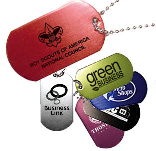 Custom Imprint Metallic Dog Tag (250 min) AS2851