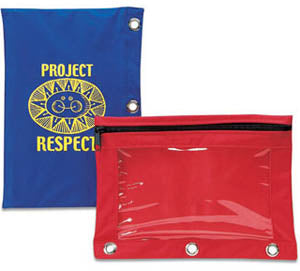 Custom Imprint Window Pencil Pouch, ASN20