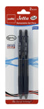 Cello Jetta Retractable Gel Pen black (24 pens) (A-6)