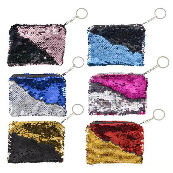 Flip Sequin Purse Keychain (12/unit) #70537 (E-43)