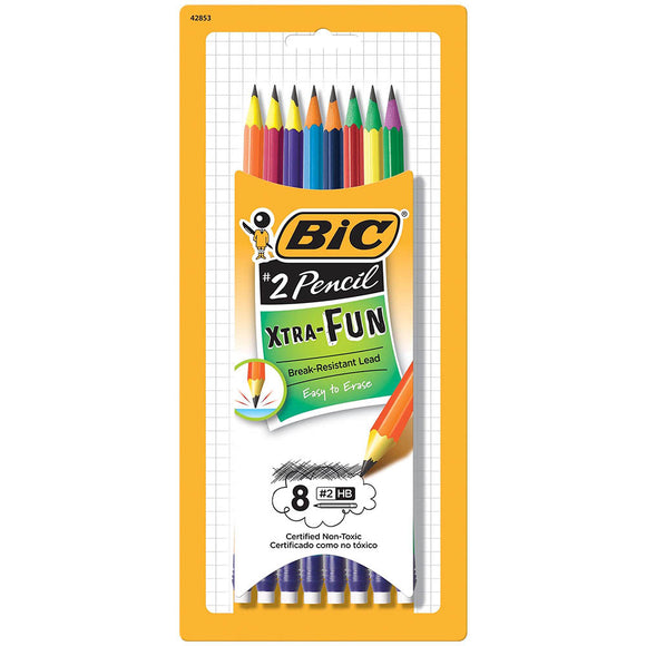 Bic Xtra Fun #2 Pre sharpened Pencil (8/pack) PGEP81