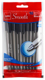 Cello Smooth Stick Pen, black (60 pens) #153123BK (A-8)