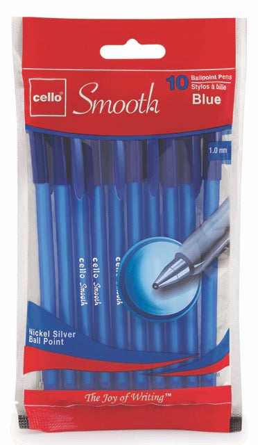 Cello Smooth Stick Pen, blue (60 per unit) #153154