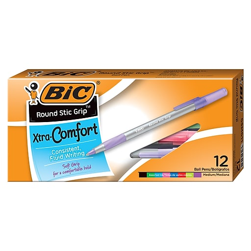 Bic Xtra Comfort Pen Assorted (12 per box) WX8ST981