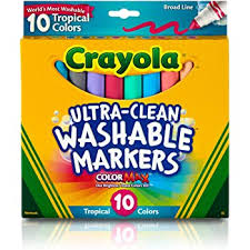Crayola Washable Markers, Broad Pt, (6 boxes/unit), #587808 (E-53)