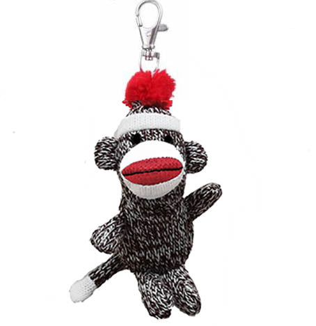 Sock Monkey Back-Pack Clips (1/unit), #125604