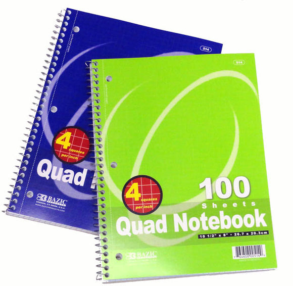 Quad Spiral Notebook, #514