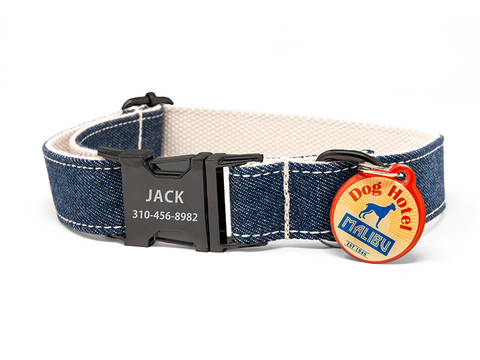 Custom Collar Dark Denim