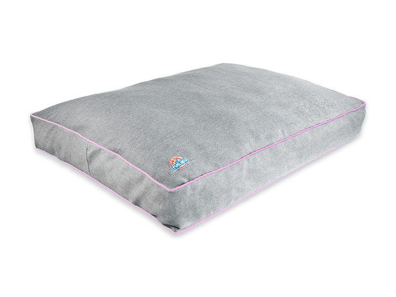 World's Most Sustainable Dog Bed Japanese Denim Pink