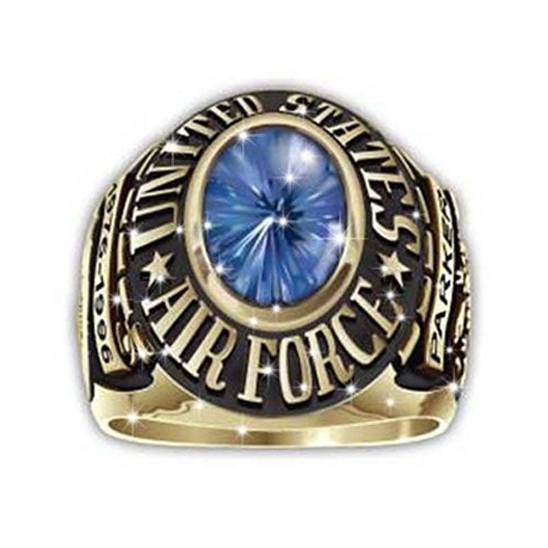 US Airforce Ring Round Custom-  Big Stone Blue