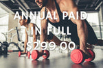 $299.00 Yearly Membership with 1 Free Month