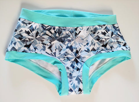 Fractured Diamond 2XL Boyshorts