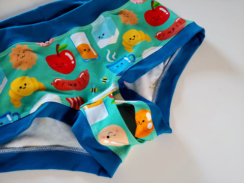 Breakfast Food Boyshorts 2XL Secret Garden