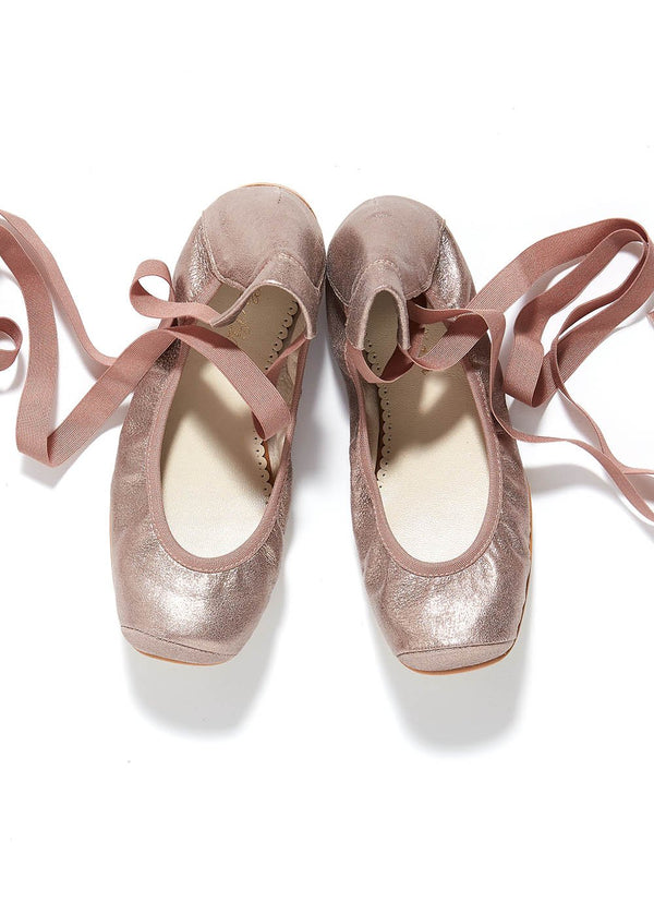 Belle Chiara Leather Puntas Ballet Flats