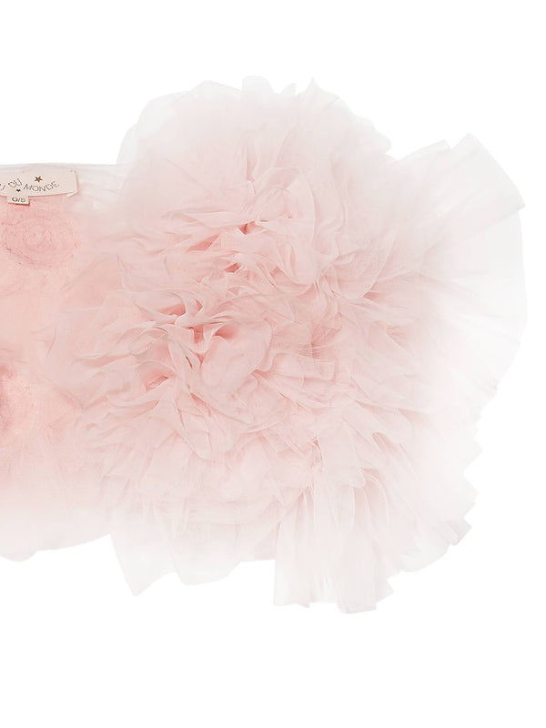 Flowerette Ruffle Shrug